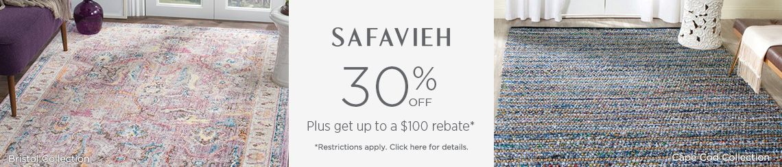 Safavieh Rugs - Save 30% + get up to $100 back!