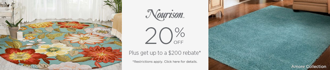 Nourison Rugs - Save 20% + get up to $200 back!