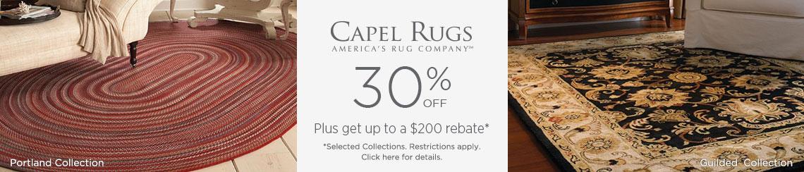 Capel Rugs - Save 30% + Rebate!