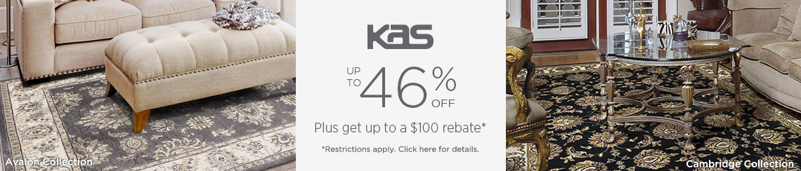 KAS Rugs - Save up to 46% + get up to $100 back.