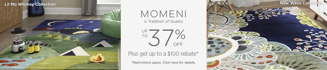 Momeni - Save up to 37% + get up to $100 back!