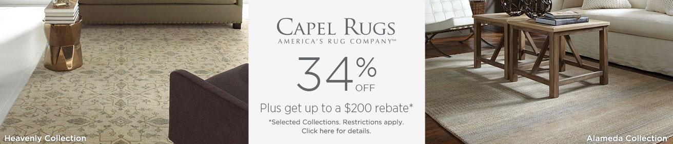 Capel Rugs - Save up to 34% + Rebate!