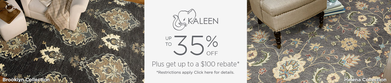 Kaleen Rugs - Save 35% + get up to $100 back!