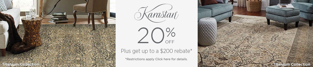 Karastan Rugs - Save 20% + get up to $200 back!