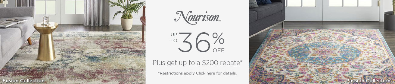 Nourison Rugs - Save up to 36% + get up to $200 back!