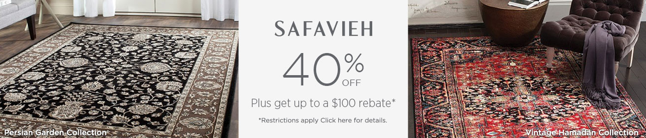 Safavieh Rugs - Save 40% + get up to $100 back!