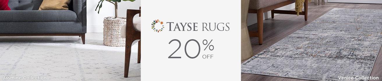 Tayse Rugs - Save 20%!