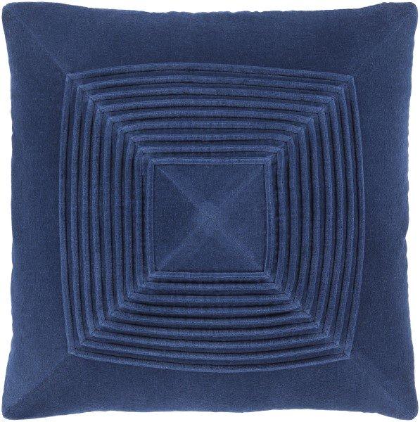 navy textured pillows
