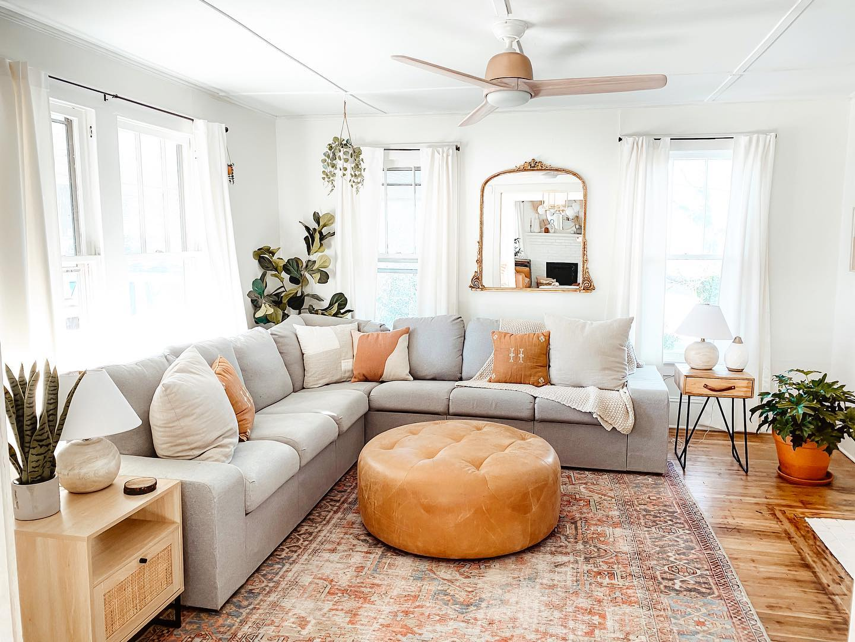 Casual Comfort - Boho Living Room Ideas