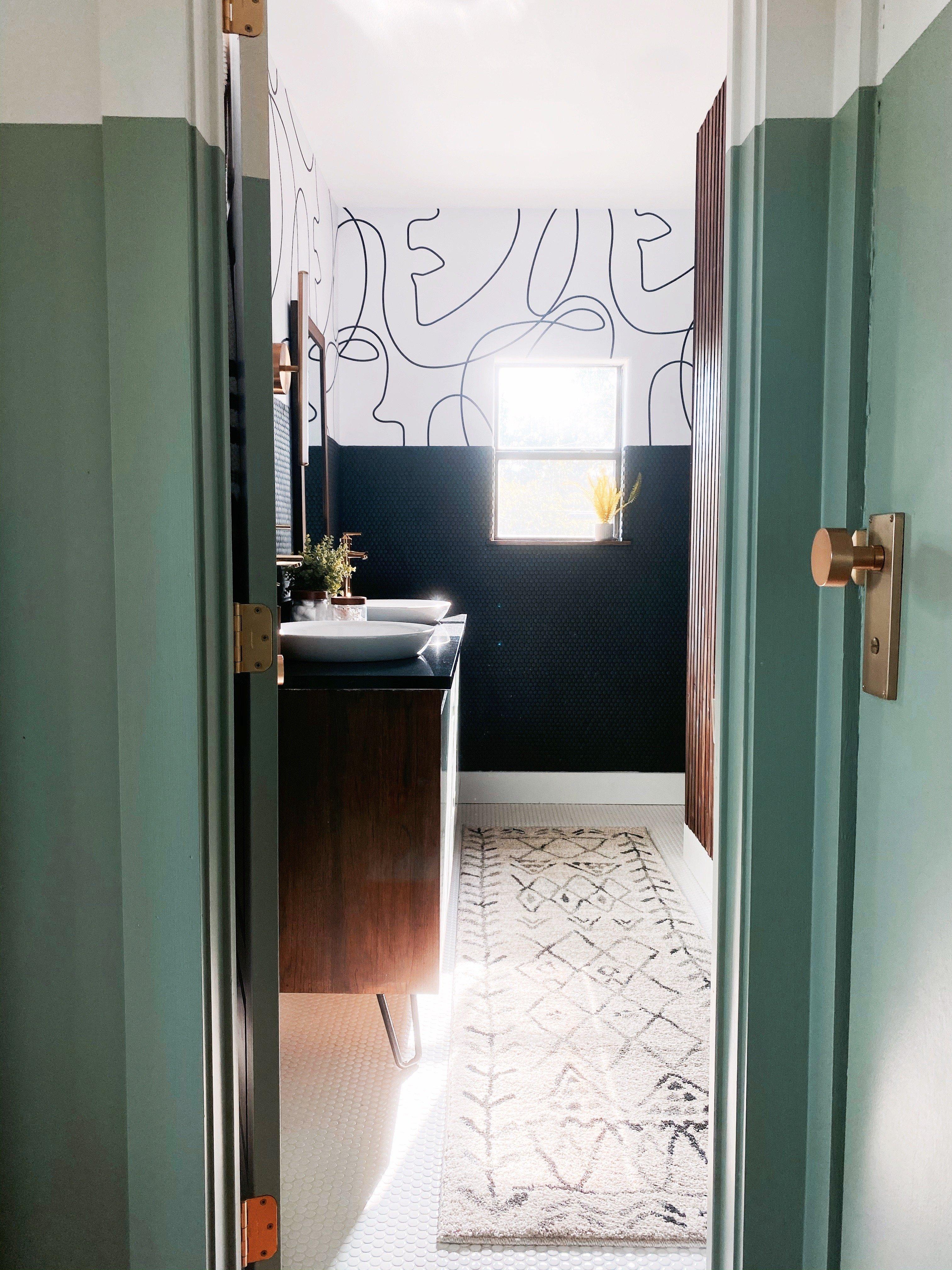 Patterned Bathroom Rug Ideas