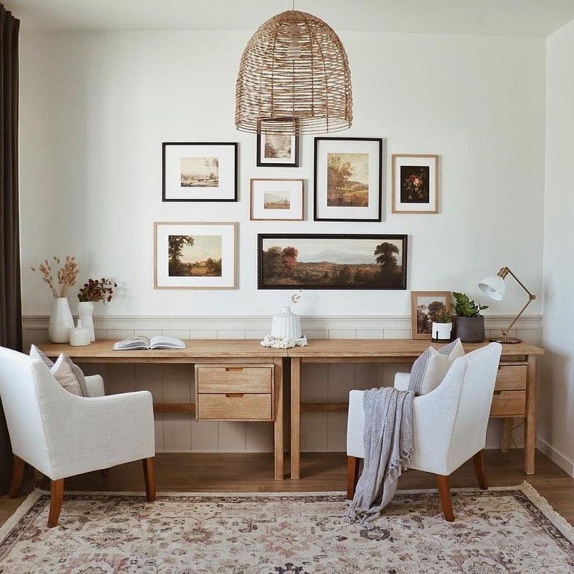 Twin Desk Office Decor Ideas