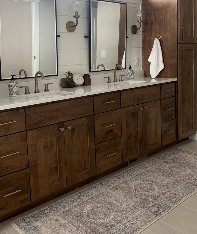 Transitional Bathroom Rug Ideas
