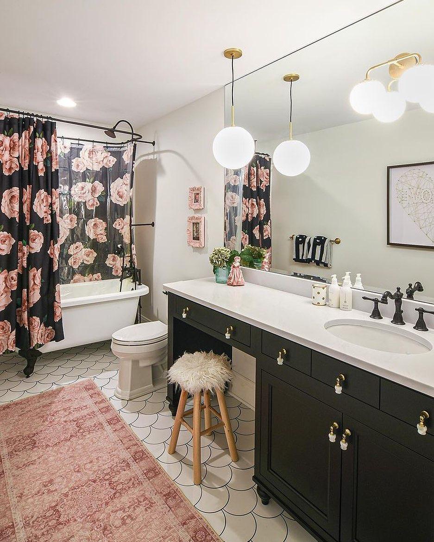 Rosy Delight Bathroom Decor Ideas
