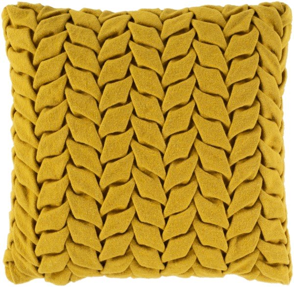 yellow textured pillows