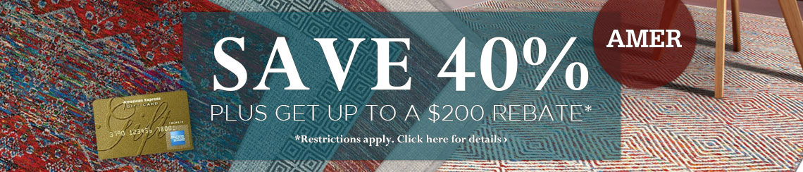 Amer Rugs - Save 40% plus get up to $200 back.
