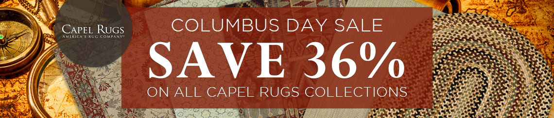 Capel Rugs Columbus Day Sale
