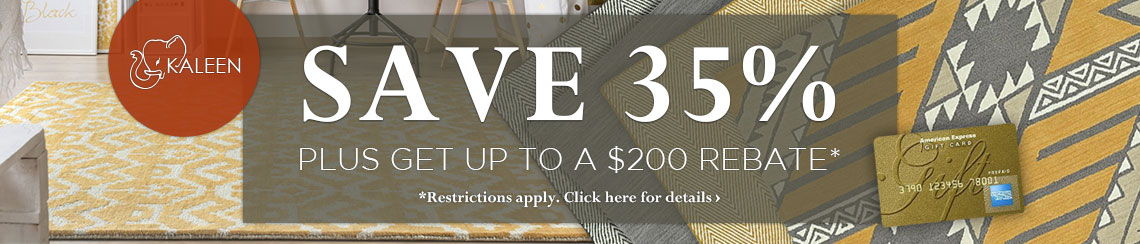 Kaleen Rugs - Save 35% plus get up to $200 back.