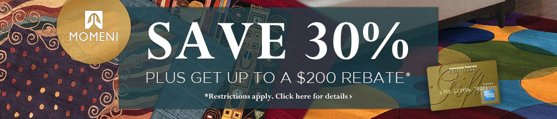 Momeni Rugs - Save 30% plus get up to $200 back.