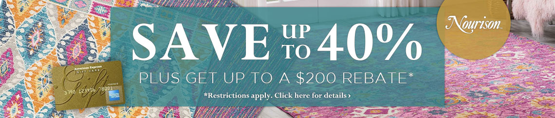 Nourison Rugs - Save up to 40% plus get up to $200 back.