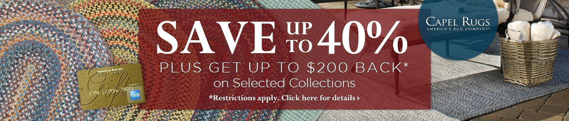 Capel Rugs - Save up to 40% plus get up to $200 back on selected collections.